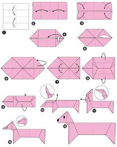 Оригами, собака