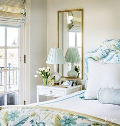 blue and green bedroom | Massucco Warner Miller Interior Design