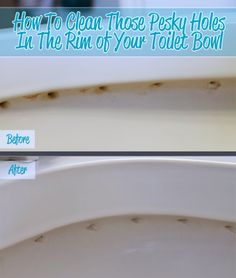 How To Clean The Holes In The Rim of Your Toilet Bowl
