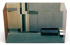 Lygia Clark Maquete para interior 1955 Wood, Oil Paint 50 x 30.5 x 18 cm
