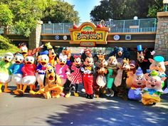 All the cartoon characters outside of Mickey's Toontown :)