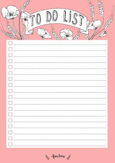 Free Printable June To Do List