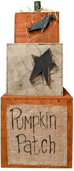 Pumpkin Patch Stackable - Kruenpeeper Creek Country Gifts