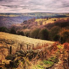 Hardcastle Crags in Hebden Bridge. yorkshire England, A favourite place of the Brontes..
