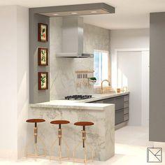 Kitchen Bar Design, Kitchen Cupboard Designs, Kitchen Sets, Kitchen Layout, Home Decor Kitchen, Interior Design Kitchen, Home Kitchens, Small Modern Kitchens, Modern Small Kitchen Design