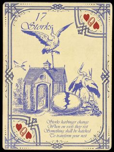 The Widow Norton Lenormand Deck, by Chas Bogan 2013 Divination Cards, Tarot Cards, Wicca, Pagan, Parlor Games, My Heart Aches, Tarot Meanings, Storks, Spiritual Teachers