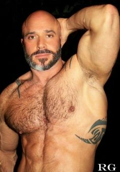 Hairy male pecs, true female hermaphrodite