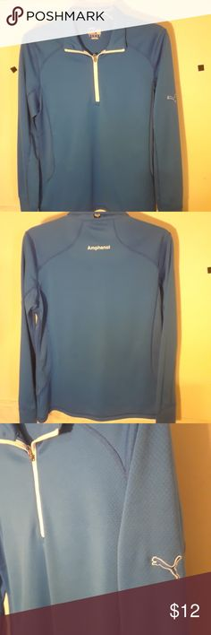Puma long sleeve workout shirt Blue fast dry material in excellent clean condition Puma Shirts Tees - Long Sleeve