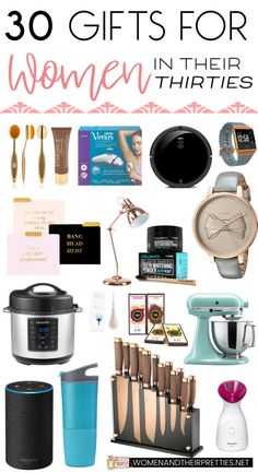 Are you looking for the perfect gifts for women in their 30s? She's survived the reckless 20s and now she's probably got her ish together: a good job, her own place, and lots of responsibilities. She deserves something special, too. Here are 30 gifts that are fun, useful, and will not age her one bit. via @JoyceDuboise