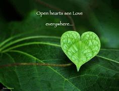 This is so true. love is everywhere. We were made by love for love. Only with an open heart can love come in. allow love to enter. Kahlil Gibran, Heart In Nature, I Love Heart, Heart Pics, Heart Images, Shades Of Green, Life Lessons, Inspirational Quotes, Nice Quotes