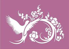 Bird Flourish STENCIL Available in 5 sizes by SuperiorStencils