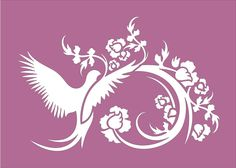 Bird Flourish STENCIL Available in 5 sizes by SuperiorStencils