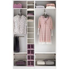 IKEA PAX Wardrobe with interior organizers, white, Sekken frosted... (1.820 BRL) ❤ liked on Polyvore featuring home, home improvement and storage & organization