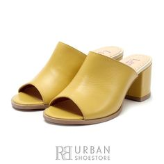 Heeled Mules, Slip On, Sandals, Box, Shoes, Fashion, Slide Sandals, Snare Drum, Shoes Outlet
