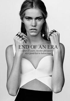 Bye Bye, Balenciaga By … Nicolas Ghesquiere. Balenciaga will never be as good just like when Tom Ford left Gucci Balenciaga Spring, White Balenciaga, Nicolas Ghesquiere, Modelista, Bikini, White Fashion, Paris Fashion, Women's Fashion, Fashion Images