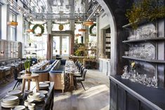 La Mercerie café at the Guild by Roman & Williams