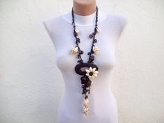 Wooden beaded necklace by nurlu on Etsy, $25.00