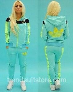 Article CDF0062 #zip #hood #tracksuit Order of this product only by wholesale catalog at our website. Stylish womens zip-up hooded mint tracksuit.