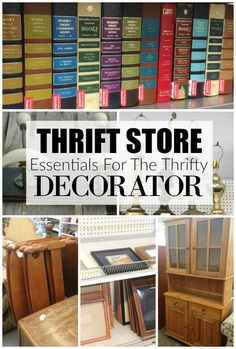 Update and decorate your home with these thrift store essentials. - Decor Essentials - Update and decorate your home with these thrift store essentials. Thrift Store Outfits, Thrift Store Shopping, Thrift Store Crafts, Thrift Store Finds, Thrift Stores, Online Thrift, Thrift Store Decorating, Thrift Store Furniture, Repurposed Furniture