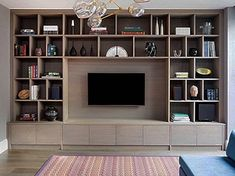 Built in tv wall unit display wall unit bespoke av unit bespoke tv wall unit tv entertainment unit Ikea Tv Wall Unit, Built In Tv Wall Unit, Media Wall Unit, Living Room Wall Units, Living Room Built Ins, Living Room Designs, Living Rooms, Wall Cabinets Living Room, Built In Tv Cabinet