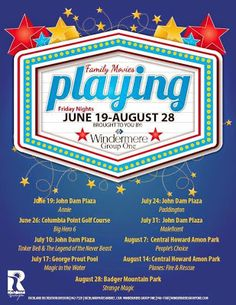 Summer Movies for Kids & Families 2015 - Tri-Cities WA