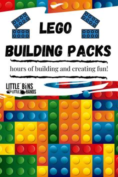 Building and exploring with Lego Bricks for kids can be so much for because there are no limits to the things that they can create! Some of the exciting brick building activities that you are sure to find in these packs are 100  brick learning activities e-book guide, brick bingo, and so much more. Kids are naturally creative so put their interest to the test with these Brick Building Activity Packs for kids. Fall Preschool Activities, Lego Activities, Spring Activities, Holiday Activities, Easy Science Experiments, Stem Science, Stem Projects For Kids, Summer Science, Lego Birthday