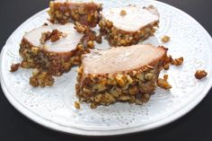 Delicious maple and Dijon glazed pork with chopped walnut crust. #fodmap diet approved!
