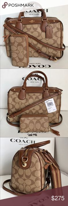 🍀Coach Set🍀 100% Authentic Coach Purse Crossbody and Wallet, both brand new with tag!😍😍😍 Coach Bags Crossbody Bags
