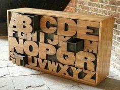 Wood Block Lettering