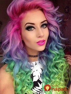 71 most popular ideas for blonde ombre hair color - Hairstyles Trends Rainbow Dyed Hair, Coloured Hair, Dye My Hair, Grunge Hair, Cool Hair Color, Amazing Hair Color, Exotic Hair Color, Gorgeous Hair, Gorgeous Makeup