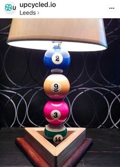 Upcycled Snooker Ball Table Lamp | #UpcycledTableLamp