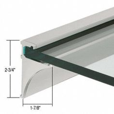 CRL 1//8 Plastic Square Mirror Clips Package C.R LAURENCE