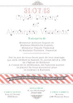 wedding invitation verso