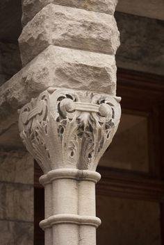 Breathtaking pillars on a historic Chicago greystone #Dreamhome