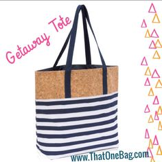 The GetAway Tote is my favorite summer bag. It's sparkle cork trim will really turn some heads at the beach or pool ❤️