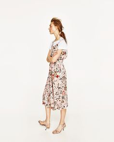Image 1 of FLORAL PRINT JUMPSUIT from Zara