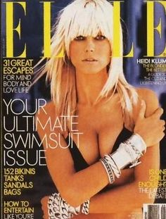 My fav fav Elle magazine issue! Heidi's hair looks ahhhhmazing on the cover! Styled by Michel Aleman Fashion Magazine Cover, Fashion Cover, Magazine Covers, Elle Us, 90s Models, Playing With Hair, Fashion Advertising, Vogue Covers, Elle Magazine