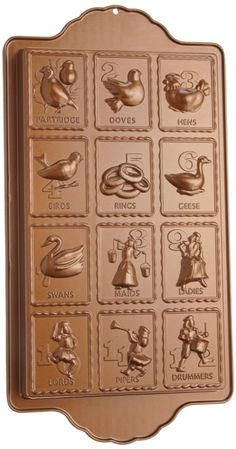 12 Days of Christmas Cookie/Candy Pan.  I need this!