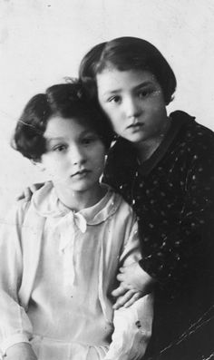 Prewar portrait of two Belgian Jewish sisters who later were killed in Auschwitz. Linked is the story of their two sisters' survival in hiding at a convent.
