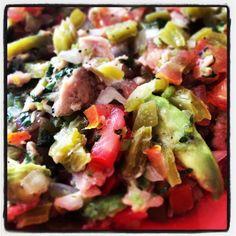Cactus and tuna ceviche !!