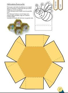 - lesptitsbricoleurss jimdo page! Insect Crafts, Bee Crafts, Diy And Crafts, Crafts For Kids, Paper Crafts, Bee Activities, Bee Party, Bee Theme, Bugs And Insects