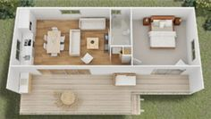 apartment floor plans Tiny House Designs by Quick Housing Solutions Jillaroo - Kleines Haus Grundriss und Design Tiny House Movement, Small House Plans, House Floor Plans, Tiny Houses Floor Plans, Guest House Plans, Studio Apartment Floor Plans, Casas Containers, Tiny Spaces, Tiny House Living