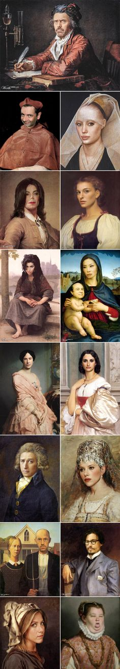 Classically painted celebrities.