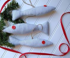 Nautical Ornament Set  Fish Ornaments  Coastal by CatherinePicone, $18.00