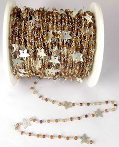 5 Feet Hessonite Rosary faceted Charm Beaded Chain 925 Silver Plated 3.5-4mm