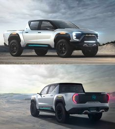 Nikola Badger All-Electric Pickup Truck Unveiled, Claims Range Electric Pickup Truck, Electric Cars, Ev Truck, Monster Car, Futuristic Cars, Automotive News, Custom Trucks, Badger, Pickup Trucks