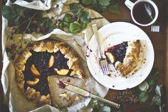 Wild Blackberry Galette - gorgeous photos of dough process!