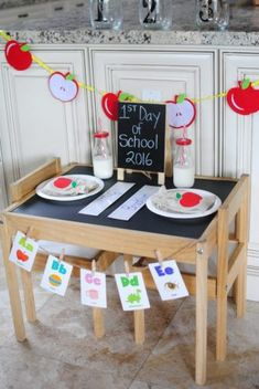 Are your little ones excited to go back and start a new school year, or are they dragging their feet a little? Behind the Scenes Belle shares a roundup of some the best ideas to send them off with a special yet simple back to School Breakfast or Dinner. Back To School Breakfast, Back To School Party, First Day School, Back To School Teacher, New School Year, School Parties, School Fun, School Days, Kids Party Tables
