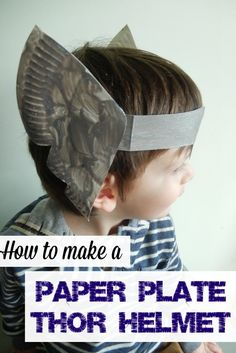 Paper Plate Thor Helmet DIY This Thor helmet DIY is super simple and loads of fun for kids and adults! Plus it's super thrifty kids craft to make using paper plates! Vbs Crafts, Camping Crafts, Arts And Crafts Projects, Preschool Crafts, Daycare Crafts, Preschool Christmas, Camping Ideas, Super Hero Activities, Activities For Kids