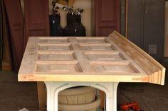 Door Headboard {Roadkill Rescue} - Bed Headboard - Ideas of Bed Headboard - DIY Wood Headboard Ideas Furniture Projects, Home Projects, Diy Furniture, Old Wooden Doors, Old Doors, Front Doors, Door Headboards, Headboard Ideas, Muebles Home